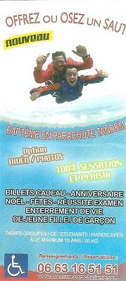 Aventure Parachutisme saut tandem